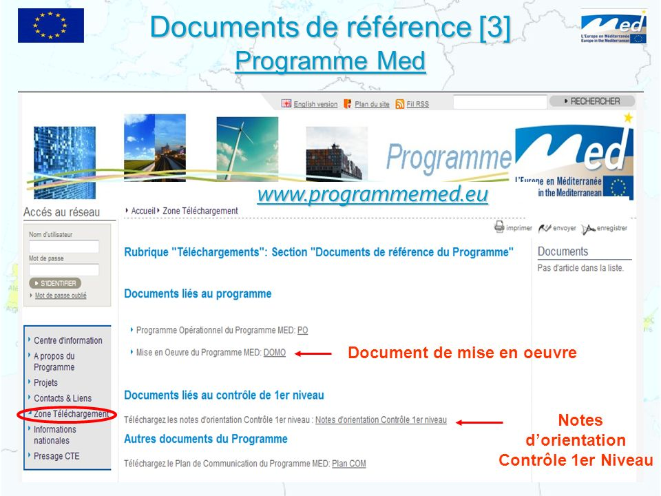 Documents de référence [3] Programme Med